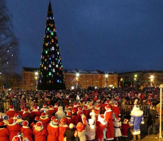 Шествие Дедов Морозов в Рыбинске