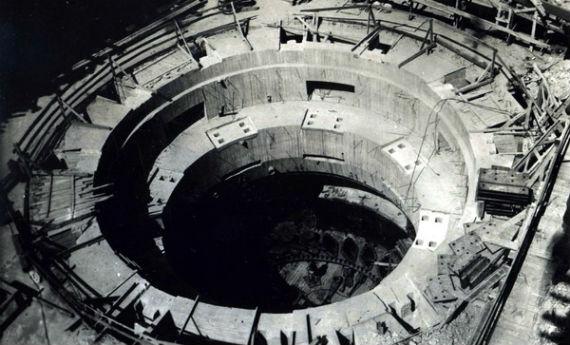 Кратер гидроагрегата Рыбинской ГЭС