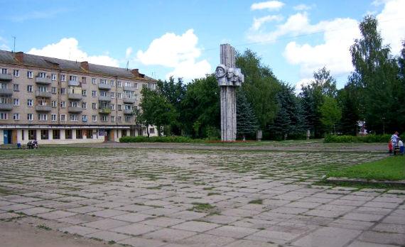 Комсомольская площадь в Рыбинске