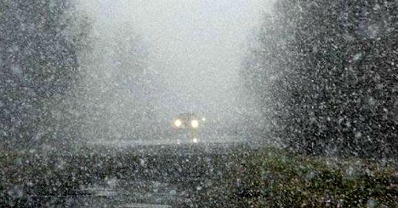 снегопад в Рыбинске