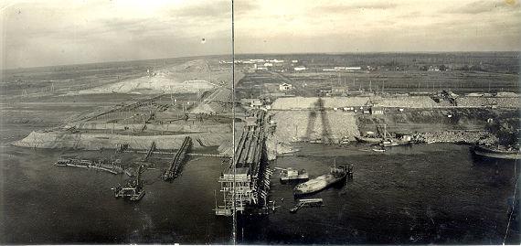 Строительство Рыбинской ГЭС. 1939 год