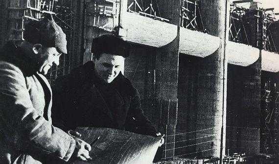 Строительство Рыбинской ГЭС. 1941 год