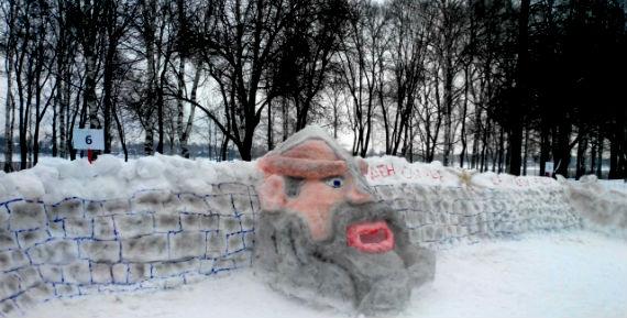 снежная крепость в Рыбинске