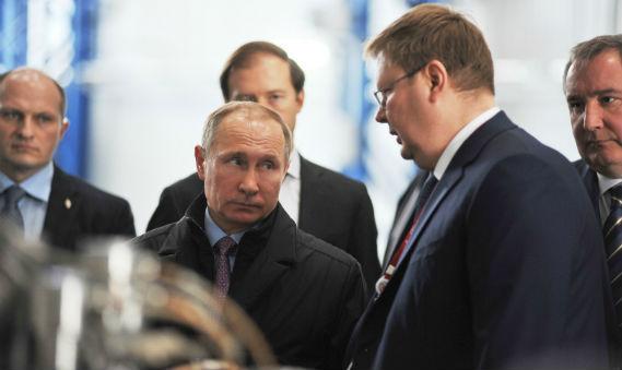 Владимир Путин в Рыбинске