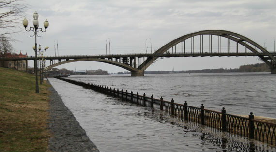 Волга в Рыбинске