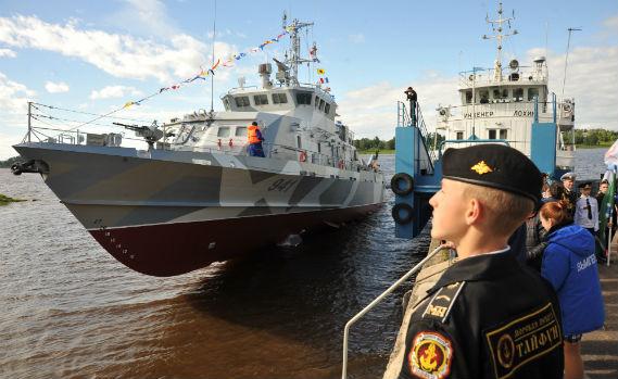 ВРыбинске спустили наводу очередной противодиверсионный катер «Грачонок»