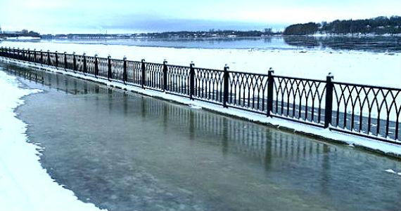 Волжская набережная в Рыбинске