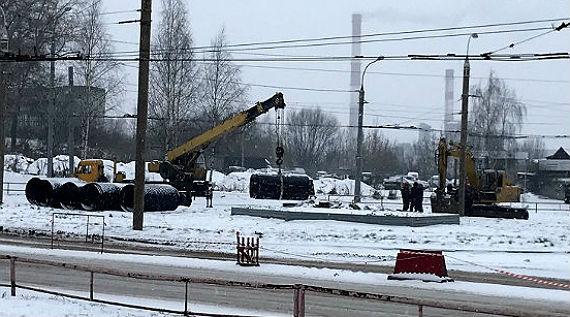 Авария на коллекторе в Рыбинске