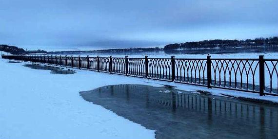 набережная в Рыбинске