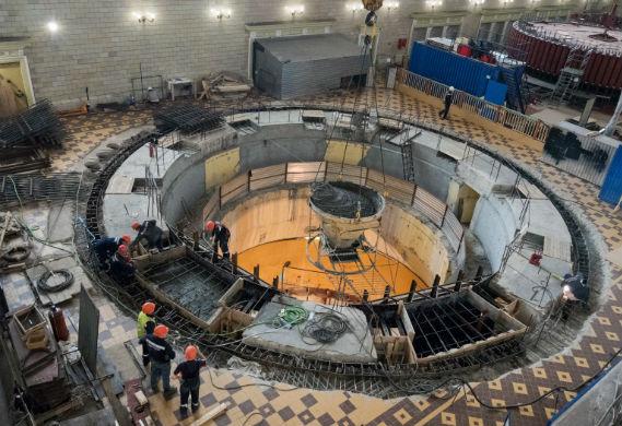 Замена гидроагрегата на Рыбинской ГЭС